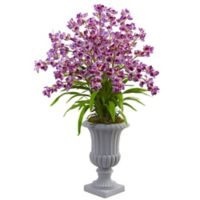 Nearly Natural 41-Inch Orchid Arrangement in White Urn