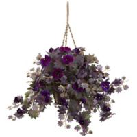 Nearly Natural 18-Inch Morning Glory Hanging Basket