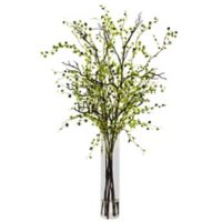 Nearly Natural 42-Inch Night Willow Arrangement in Glass Cylinder