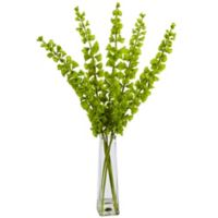 Nearly Natural 32-Inch Bells of Ireland Arrangement in Glass Vase