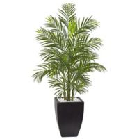 Nearly Natural 4.5-Foot Areca Palm Tree in Slate Planter