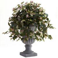 Nearly Natural 28-Inch Hoya in Grey Urn
