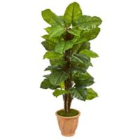 Nearly Natural 5-Foot Real Touch Large Leaf Philodendron in Terra Cotta Planter