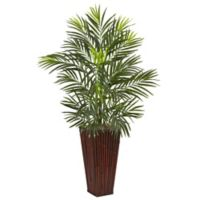 Nearly Natural 41-Inch Areca Palm Tree in Bamboo Tower Planter