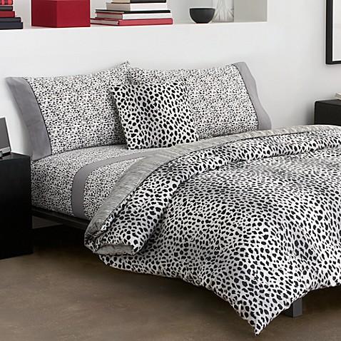 Dkny Cheetah Twin Twin Extra Long Bedding Set Bed Bath