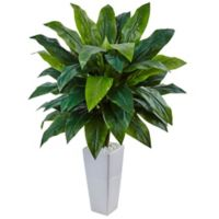 Nearly Natural 38-Inch Cordyline in White Tower Planter