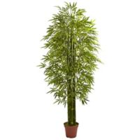 Nearly Natural 7-Foot Bamboo Tree in Red Nursery Pot