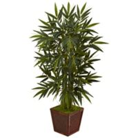 Nearly Natural 4-Foot Bamboo Tree in Bamboo Planter