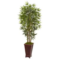 Nearly Natural 5.5-Foot Bamboo Tree in Decorative Planter