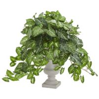 Nearly Natural 25-Inch Nephthytis Artificial Plant in Grey Urn