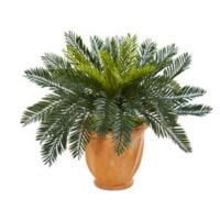 Nearly Natural 16-Inch Cycas Artificial Plant in Terracotta Planter