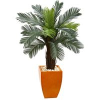 Nearly Natural 4.5-Foot Artificial Cycas Tree in Orange