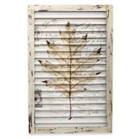 Nearly Natural 24-Inch Maple Leaf Framed Window Shutter Wall Decor