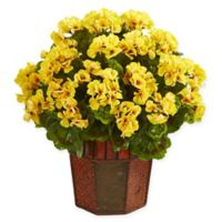 Nearly Natural 18-Inch Geranium Artificial Plant in Yellow
