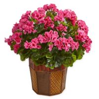 Nearly Natural 18-Inch Geranium Artificial Plant in Pink