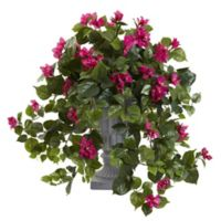 Nearly Natural 27-Inch Pink Bougainvillea in Grey Urn