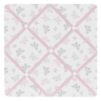 Sweet Jojo Designs Alexa Fabric Memo Board in Pink/Grey