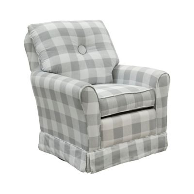 Captivating The 1st Chair™ Picnic Swivel Glider Chair In Grey