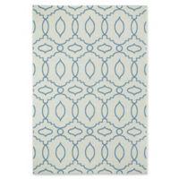 Capel Genevieve Gorder Elsinore-Moor 3'11 x 5'6 Accent Rug in Blue/Beige