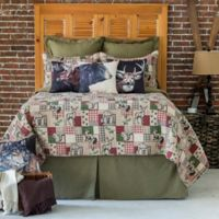 C&F Enterprises, Inc. Caleb Reversible Full/Queen Quilt Set in Brown