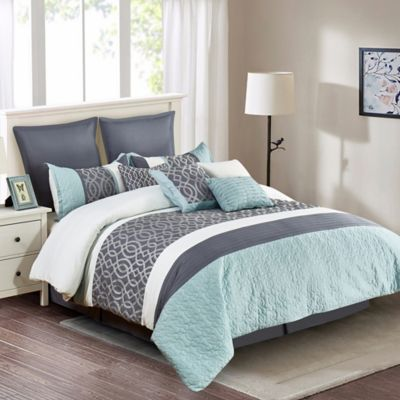 Buy Grey Blue Comforter from Bed Bath Beyond