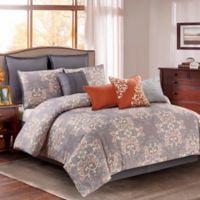 Wonder Home Pine 10-Piece Queen Comforter Set in Grey