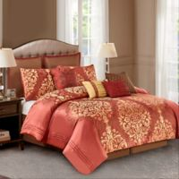 Wonder Home Hopewell 10-Piece King Comforter Set in Red
