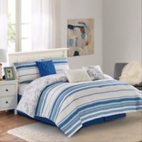 Wonder Home Anchorage 7-Piece King Comforter Set in Blue