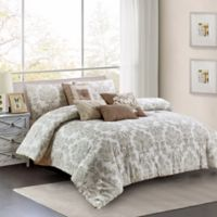 Bayside 7-Piece King Comforter Set in Brown
