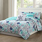 Quaint Home Kai Reversible Queen Quilt Set in Aqua