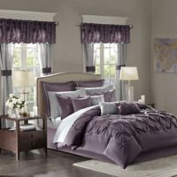 Madison Park Essentials Joella 24-Piece Queen Comforter Set in Plum