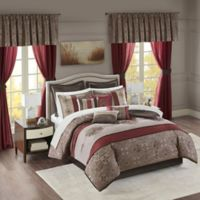 Madison Park Essentials Delaney 24-Piece Queen Comforter Set in Red
