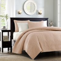 Madison Park Quebec Reversible King/California King Coverlet Set in Blush