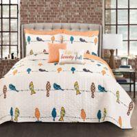 Lush Decor Rowley Birds Full/Queen Quilt Set