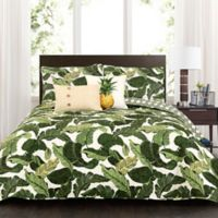 Lush Decor Tropical Paradise King Quilt Set in Green