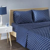 Mi Zone Polka Dot Kids Twin Sheet Set in Indigo