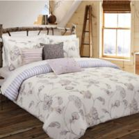 Nouvelle Home Painted Jacobean Reversible Full/Queen Comforter Set in White