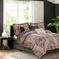 Zen Bardot 7-Piece Reversible Queen Comforter Set in Blush