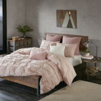 INK+IVY Masie King/California King Duvet Cover Set in Blush