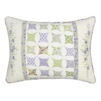 Nostalgia Home™ Cathedral Window King Pillow Sham in Ivory/Lilac