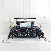 kate spade new york Hummingbird Twin Duvet Cover Set in Navy
