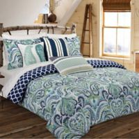 Nouvelle Home Painterly Paisley Reversible Full/Queen Comforter Set in Blue