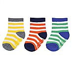 carter's® Size 3-12M 3-Pack Stripe Crew Socks