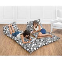 Sweet Jojo Designs Isabella Floor Pillow Lounger Cover in Black/White