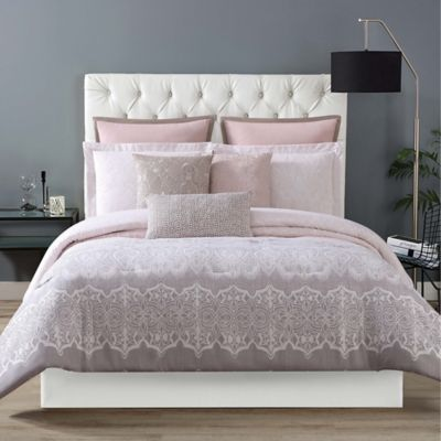 Christian Siriano Ombre Lace Reversible Twin XL Comforter Set In Pink