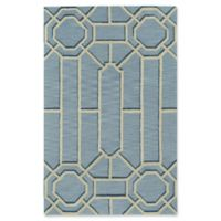 Capel Williamsburg Ironworks Style 5' x 8' Area Rug in Blue/Pale Blue