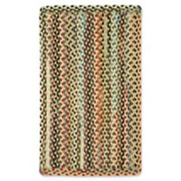 Capel St. Johnsbury Braided 2'3 x 4' Accent Rug in Wheat