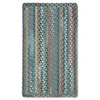 Capel St. Johnsbury Braided 2'3 x 4' Accent Rug in Medium Blue