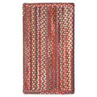 Capel St. Johnsbury Braided 3' x 5' Accent Rug in Medium Red
