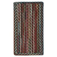 "Capel St. Johnsbury Braided 4' x 6"" Area Rug in Black/Multi"
